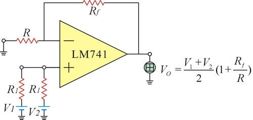 op在使用时,需接上正负电压      一般为了绘图方便,且让电路图简洁